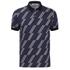 MSGM Men's Print Top Polo Shirt - Blue: Image 1