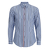 MSGM Men's Striped Long Sleeve Shirt - Blue: Image 1