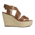 MICHAEL MICHAEL KORS Women's Celia Mid Wedge Sandals - Luggage: Image 1