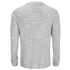 Brave Soul Men's Dalius Zip Pocket Long Sleeved Top - Light Grey Marl: Image 2