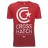 Crosshatch Men's Carinae T-Shirt - High Risk Red: Image 1