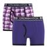 Crosshatch Herren 2er Pack Pixflix Boxers - Violett: Image 1