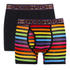 Crosshatch Men's Refracto 2-Pack Boxers - Multi/Black: Image 1