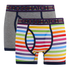 Crosshatch Men's Refracto 2-Pack Boxers - Multi/Grey: Image 1