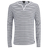 Scotch & Soda Men's Long Sleeved Grandad T-Shirt - Grey Melange: Image 1