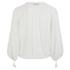 Munthe Women's Equal Sheer Tassel Detailed Blouse - Ivory: Image 2