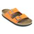 Birkenstock Women's Arizona Slim Fit Suede Double Strap Sandals - Orange: Image 3