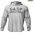 GASP Men's Long Sleeve Thermal Hoodie - Grey Melange: Image 1