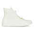 Converse Women's Chuck Taylor All Star Leather Shroud Hi-Top Trainers - Egret: Image 1