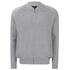Threadbare Men's Tallinn Knitted Bomber Jacket - Grey Marl: Image 1