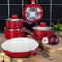 Swan SWPS2010RN 2 Piece Retro Frying Pans - Red - 20/28cm: Image 3
