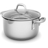 Morphy Richards 79798 Pro Pour Casserole Dish - Stainless Steel - 24cm: Image 1