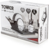 Tower T81400 Dish Rack with Tray - Black: Image 3