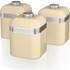 Swan SWKA1020CN Retro Set of 3 Canisters - Cream: Image 1