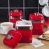 Swan SWKA1020RN Retro Set of 3 Canisters - Red: Image 2