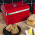 Swan SWKA1010RN Retro Bread Bin - Red: Image 2