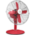 Swan SFA1010RN Retro Desk Fan - Red - 12 Inch: Image 1