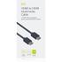 Kit 1m HDMI Cable - Black: Image 5