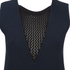 Sonia by Sonia Rykiel Women's Fishnet V-Neck Dress - Navy/Black: Image 3