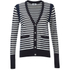 Sonia by Sonia Rykiel Women's Bicolor Striped Cardigan - Navy/White: Image 1