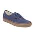 Vans Men's Authentic Washed Canvas Trainers - Dress Blues/Gum: Image 4