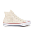 Converse Women's Chuck Taylor All Star Crochet Hi-Top Trainers - Parchment/White: Image 1