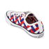 Converse Men's Chuck Taylor All Star Woven Canvas OX Trainers - White/Clematis Blue/Red: Image 4