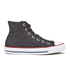 Converse Women's Chuck Taylor All Star Crochet Hi-Top Trainers - Almost Black/White: Image 1