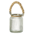 Parlane Padstow Lantern with Rope Handle - Brown: Image 1
