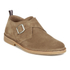Selected Homme Men's Royce Suede Monk Shoes - Tan: Image 5