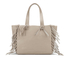 UGG Women's Lea Leather Fringed Tote Bag - Taupe: Image 5