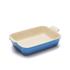 Le Creuset Stoneware Medium Heritage Rectangular Roasting Dish - Marseille Blue: Image 1