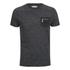 Brave Soul Men's Exit Zip Pocket Fleck T-Shirt - Charcoal: Image 1