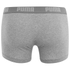 Puma Men's 2 Pack Basic Trunks - White/Grey: Image 3