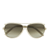 Chloe Women's Metal Edged Aviator Sunglasses - Gold/Brown: Image 1