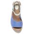 Clarks Women's Tustin Sinitta Leather Double Strap Sandals - Blue Combi: Image 5