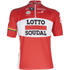 Lotto Soudal Short Sleeve Jersey 2016 - Red/White: Image 1