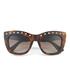 Valentino Women's Rockstud Square Frame Sunglasses - Dark Havana: Image 1