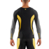 Skins DNAmic Men's Long Sleeve Top - Black/Citron: Image 2