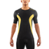 Skins DNAmic Men's Short Sleeve Top - Black/Citron: Image 1