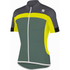 Sportful Pista Short Sleeve Jersey - Green/Yellow/Grey: Image 1
