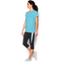 Under Armour Women's Favourite Short Sleeve Crew T-Shirt - Sky Blue: Image 5