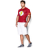 Under Armour Men's Flash Compression Short Sleeved T-Shirt - Red: Image 4