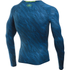 Under Armour Men's HeatGear Armour Long Sleeve Compression Shirt - Black/Blue: Image 2