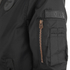 4Bidden Men's Radar Bomber Jacket - Black: Image 4