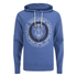 Smith & Jones Men's Pseudo Print Hoody - Moonlight Blue Marl: Image 1