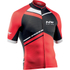 Northwave Blade Air Full Zip Short Sleeve Jersey - Black/Red: Image 1