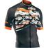 Northwave Blade Air Full Zip Short Sleeve Jersey - Camo/Orange Fluo: Image 1