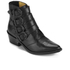 Toga Pulla Women's Limited Edition Buckle Side Leather Heeled Ankle Boots - Black: Image 2