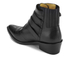 Toga Pulla Women's Limited Edition Buckle Side Leather Heeled Ankle Boots - Black: Image 4